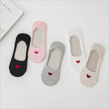 Hot Women Invisible Cotton Socks No Show Nonslip Loafer Liner Low Cut Cartoon Animal Lady Necessity N