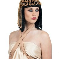 Egyptian Queen Wig with Headpiece Adult Accessory