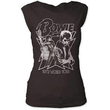 David Bowie Black World Tour Womens Cut T-Shirt