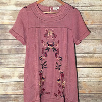 Southwest Dreams Embroidered Tunic Dress