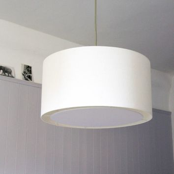 Cream Cotton Ceiling Pendant with Diffuser