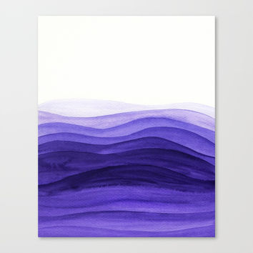 Ultra violet waves Canvas Print by vivigonzalezart