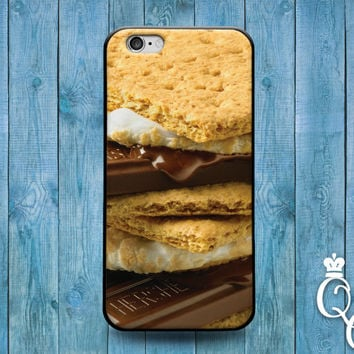 iPhone 4 4s 5 5s 5c 6 6s plus + iPod Touch 4th 5th 6th Gen Fun Cute Dessert Food Snack Phone Cover Cool Smore Funny Case Marshmellow Cracker