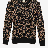 torn by ronny kobo Oversized Animal Jacquard Sweater -All Tops-Tops-Clothing-Categories- IntermixOnline.com