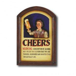 RAM Gameroom Hand-Carved Cheers Sign - R213