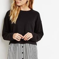 Striped Combo Top