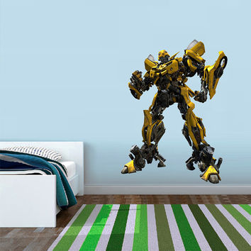 Bumblebee Transformers - Autobots Wall Decal Printed and Die-Cut Vinyl Apply in any Flat Surface- Autobots Transformers Wall Decal