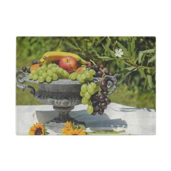 Fruit Bowl Glass Cutting Board