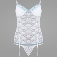 Lace Padded Sheer Lingerie Camisole