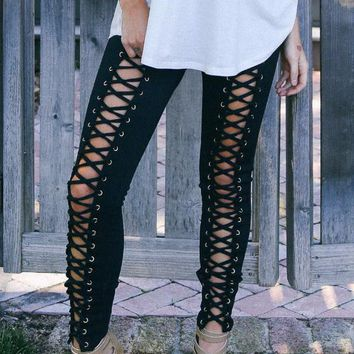Easton Lace Up Skinny