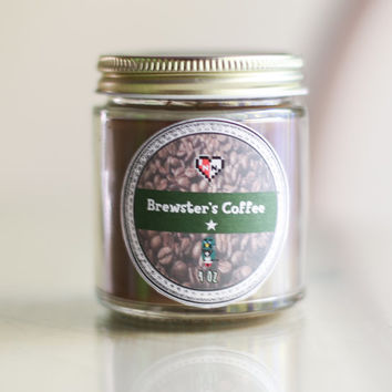 Brewster's Coffee Animal Crossing Soy Candle (4 oz)