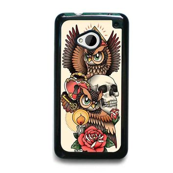 OWL STEAMPUNK ILLUMINATI TATTOO HTC One M7 Case Cover