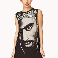 FOREVER 21 Street-Chic Tupac Tunic Black/Taupe