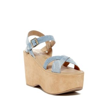 Kork-Ease Women's Denim Heights Platform Sandal