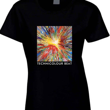 Oh Wonder Technicolour Beat Crop OW  Womens T Shirt