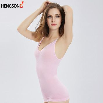 HENGSONG Sexy Strap Cami Tank Tops Women Body Shapers Tops Underwear Slimming Vest Corset Shapewear for Female Yoga Onepeice