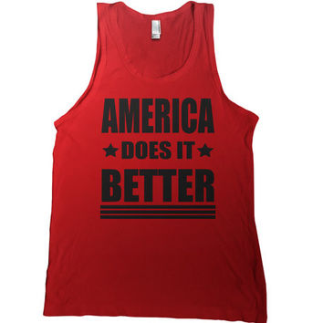 America Does It Better Mens Tank Top - 4th of july t shirt usa america tshirt united states patriot tee memorial day t-shirt champs military