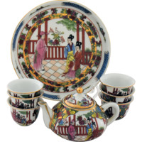 Chinese Porcelain Children Tea Set Childs Toy or Doll Miniature China Dishes