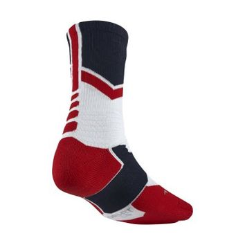 Nike Hyper Elite World Tour Crew USA Basketball Socks - White