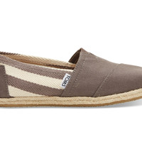 TOMS Dark Grey Stripe University Women's Classics Grey