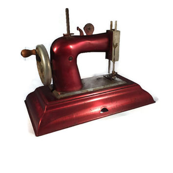 Vintage Toy Sewing Machine - Childs Antique Retro Toy, Miniature Old Sewing Collectible, Casige German Model 1470,