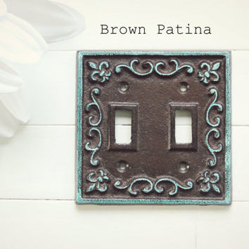 Light Switch Cover / Light Switch Plate Cover / Double Light Switch Cover / Shabby Chic Decor / French Country Decor / Customize Colors