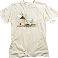 Dutch Windmills Wind Power Vintage T-shirt