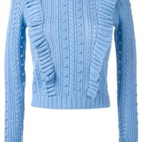 Manoush Cable Knit Ruffled Jumper - Farfetch