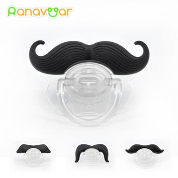 Fashion Funny Dummy Dummies Pacifier Novelty Moustache Babies Child Soother Beard Kids Gift Safe Pacifier