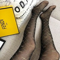 DIOR Fashion New More Letter Print Women Long Socks Stockings