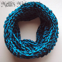 Blue and Black Infinity Scarf/Cowl