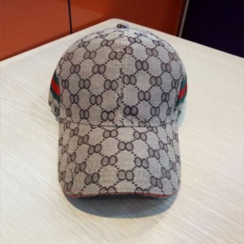 [ On Sale ] Perfect GUCCI Women Men Embroidery Sports Sun Hat Baseball Cap Hat