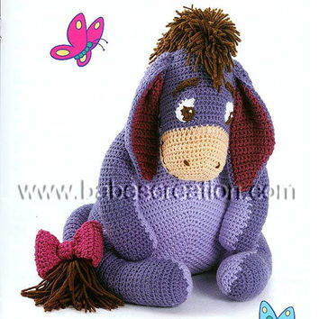 40% SALE Eeyore Amigurumi Pattern: INSTANT DOWNLOAD