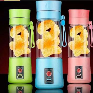 Portable USB Electric Fruit Juicer Cup Vegetable Citrus Blender Juice Extractor Ice Crusher