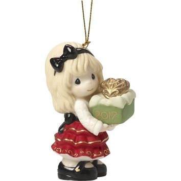 Precious Moments May The Gift Of Love Be Yours This Season Dated 2017 Bisque Porcelain Ornament 171002