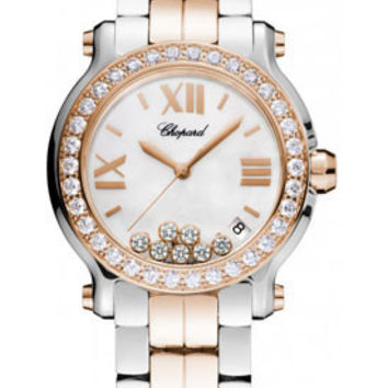 Chopard - Happy Sport - Round Medium  - Stainless Steel and Rose Gold