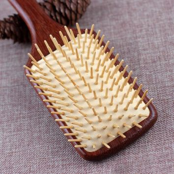 2017 Sale Real Anti-static Big Paddle Brush Wooden Handle Hair Scalp Massage Airbag Comb Hairbrush Detangle Care Styling Tools
