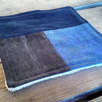 Hot Pad / Pot Holder / Dish Rag / Rustic Home / Rustic Decor / Repurposed Denim Patchwork / ORGANIC Terry Cloth / Eco Friendly Wedding Gift