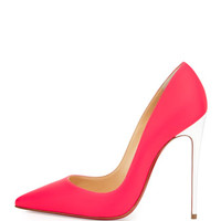 Christian Louboutin So Kate Matte Patent Red Sole Pump, Fuchsia