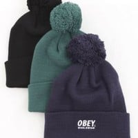 OBEY, F14 Worldwide Pom Pom Beanie - Hats - MOOSE Limited