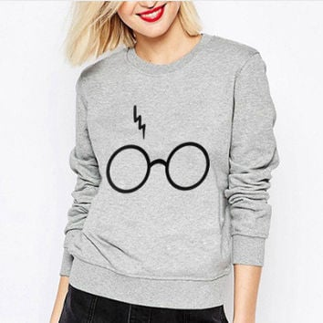 Free Shipping 2016 Winter Autumn Women Sweatshirt Printed Tumblr Thicken Warm Female Hoodies Tops Clothes