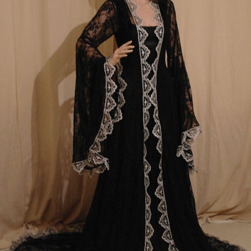 Renaissance medieval victorian fantasy vintage handfasting wedding dress custom made