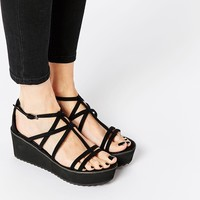 ASOS TROPHY GIRL Caged Heeled Sandals