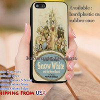 Vintage Poster Snow White iPhone 6s 6 6s+ 5c 5s Cases Samsung Galaxy s5 s6 Edge+ NOTE 5 4 3 #cartoon #disney #animated #SnowWhite dl13