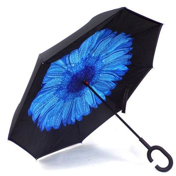 Ceiourich Creative Large Car Umbrella Customized UV Protection Reverse Umbrella Double Deck Long Handle Male Umbrella-001