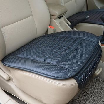 Car Seat Cover Styling Four Seasons Leather Breathable Car Interior Seat cover Pad Seat Cushion Car Front Back Seat Cover