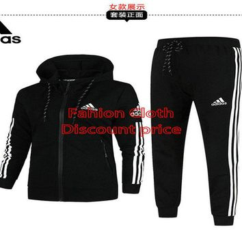 Adidas Jacket New Style Fashion Trend Long Sleeve Suit For Men 18926 L-4X Black