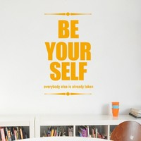 Wall Decal Quote Be Your Self - CoolWallArt