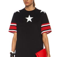 GIVENCHY Stars and Stripes Cotton Tee in Black in Black | FWRD