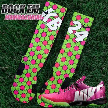 Kobe 8 Inspired Mambacurial Custom Nike Elite Socks | Rock 'Em Apparel